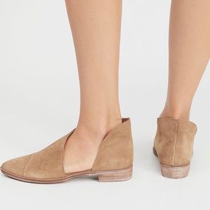 NWT Free People Taupe Suede Royale Flat Shoes
